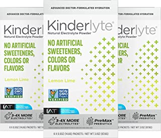 Sponsored Ad - Kinderlyte Advanced Electrolyte Powder | Natural, 4-5x More Electrolytes, 80% Less Sugar | With PreMax Preb...