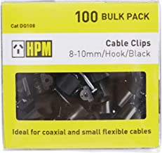 HPM DQ108 8-10mm Black Cable Clips Accessory - Cable clips Hook type 8-10mm black pack of 100