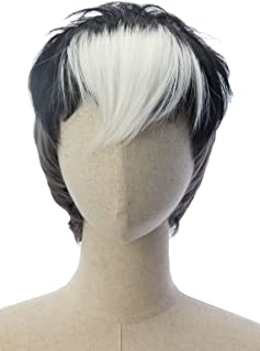 Short Black and White Two Tone Anime Cosplay Costume Wigs Voltron Shiro Party Wig