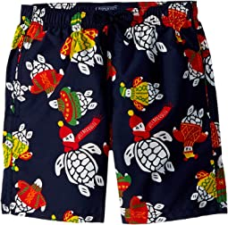 Sweater Turtles Swim Trunk (Big Kids)