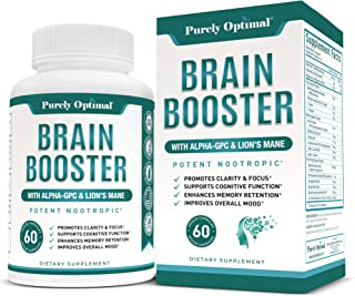 Premium Brain Supplement - Nootropic Brain Booster for Focus, Clarity, Improved Memory, Concentration & Better Mood - Brai...