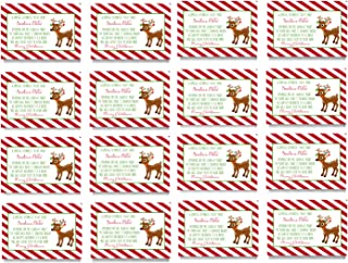 Reindeer Food Gift Tags - Kid's Christmas Party Supplies - Set of 16 Folded Bag Labels