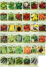 Set of 35 Assorted Vegetable & Herb Seeds 35 Varieties Create a Deluxe Garden All Seeds are Heirloom, 100% Non-GMO! by Bla...
