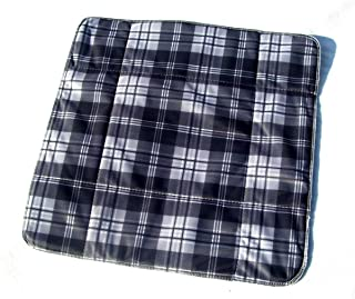 MEX-LINE Inkontinenz Stuhlauflage Design: Lincoln Karo Anthrazit, wasserdichte Sitzauflage/Sitzkissen/Nässeschutz, waschbar und wiederverwendbar, ca. 45 x 45 cm