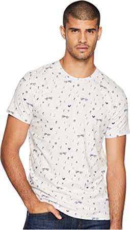 Music Note Print Fashion Crew Shirt