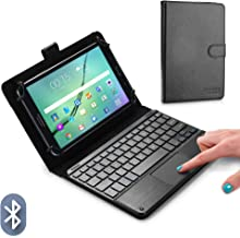 Cooper Touchpad Executive Keyboard Case for 8-8.9 Inch Tablets | 2-in-1 Bluetooth Wireless Keyboard with Touchpad and Leather Folio Cover (Black)