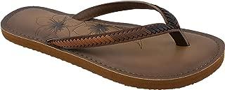girls brown flip flops