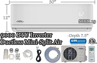 CoVac 9,000 BTU Ductless Mini-Split Air Conditioner – Inverter SEER 19 – Cooling & Heating – Dehumidifier – 120v/60hz - PreCharged Condenser - Ultra Quiet - AHRI - 16 Feet Line Set + Accessories