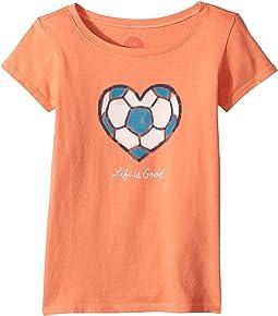 Life is Good Kids - Soccer Heart Crusher Tee (Little Kids/Big Kids)