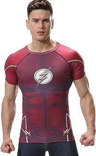Men's Compression Sport T-Shirt Tight Fitness Shirt Lightning Armor Sports Short Sleeve