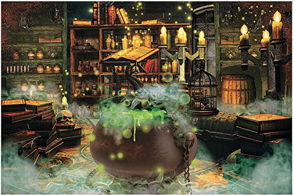 Witches Kitchen Backdrop Banner 9 Feet Long Halloween Party Decor