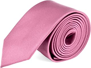 Ties For Mens Skinny Slim Silk Finish Fashion Long Necktie - Solid Color MDR