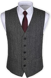 RUTH&BOAZ 2Pockets 5Buttons Wool Herringbone/Tweed Suit Waistcoat
