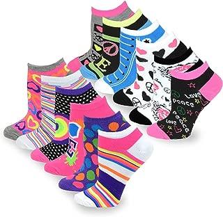 TeeHee Fashion No Show/Low Cut Fun Socks 12 Pair Pack