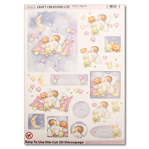 CRAFT CREATIONS DECOUPAGE FOR CARDS /& CRAFTS GINGERBREAD WOMAN