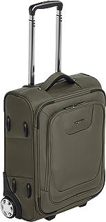 Amazon Basics – Maleta blanda expansible apta para cabina de pasajeros con candado TSA y ruedas, 48 cm, verde oliva