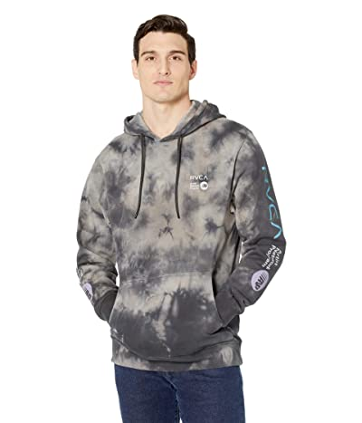 RVCA ANP Tie-Dye Pullover Hoodie (Grey Tie-Dye) Men