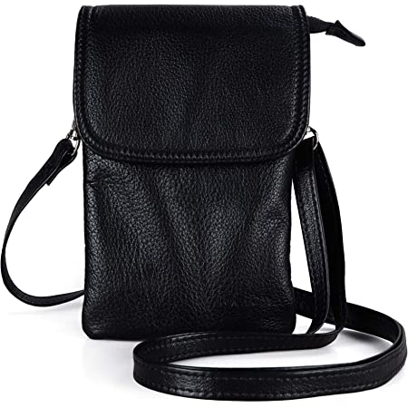 Color : Brown, Size : 1size XIAOF-FEN Business Genuine Leather Inclined Phone Sling Bag Travel Purses Small Shoulder Bag for Men Men Bags