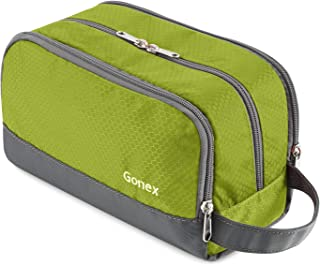 Travel Toiletry Bag Nylon, Gonex Dopp Kit Shaving Bag Toiletry Organizer Green