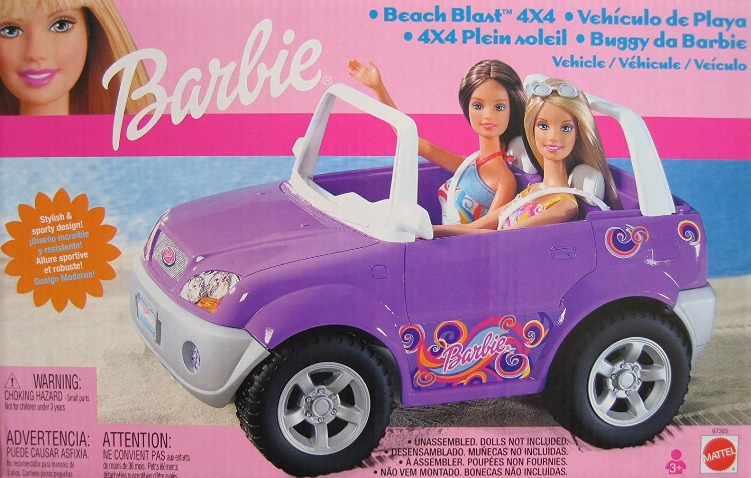 Barbie Beach Blast 4 x 4 Vehicle w Stylish Sporty Design  (2002)
