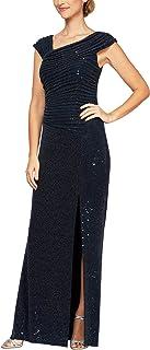 Alex Evenings womens Metallic Knit Dress