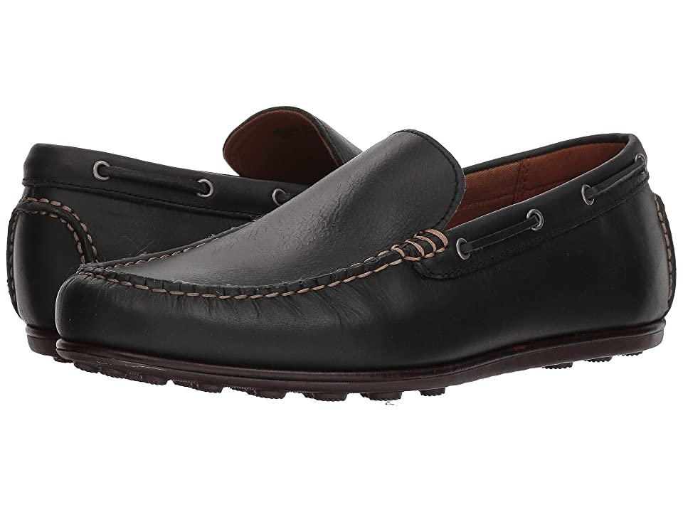 Frye Venetian Driving Moc (Black Leather) Men