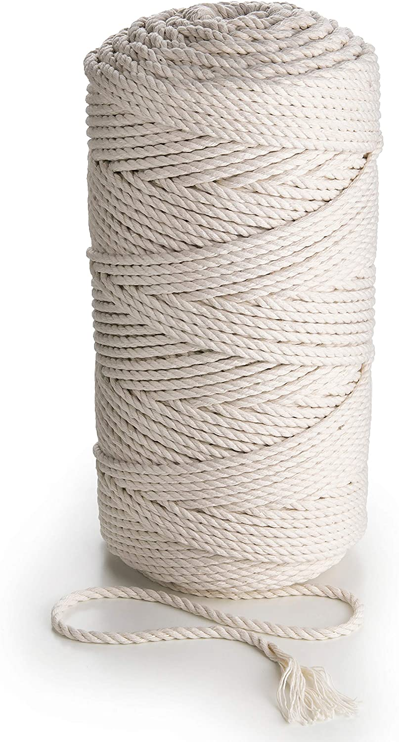 Macrame Chicago Mall Cotton Outlet ☆ Free Shipping Cord 5mm Natural 755 3 Th Rope ply feet Unstained