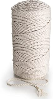 MB CORDAS Macrame Rope 5mm Macrame Cotton Cord 6mm Drafts Rope, 100%Natural Cotton Yarn, Natural, 5mm