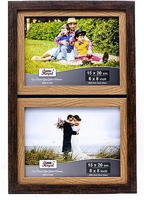 """AJANTA ROYAL® Wall and Pillar Photo Frame 2-Photo : A-182 (2-6""""x8"""")"""