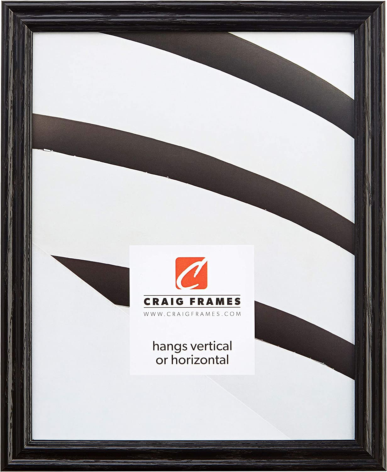 Craig Frames Outstanding 200ASHBK Max 80% OFF 24 by 36-Inch Grain Frame Fi Picture Wood