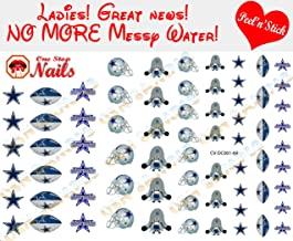 Cowboys Clear Vinyl PEEL and STICK (NOT Waterslide) nail decals/stickers V1. Set of 69. (A1)