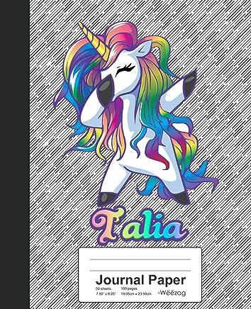 Journal Paper: TALIA Unicorn Rainbow Notebook