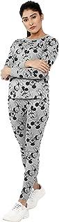 Shocknshop Grey Printed Cartoon Tee & Pants Tracksuit Set for Women (WPAJA03)