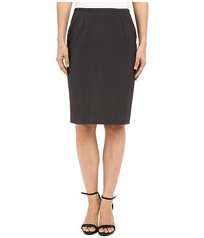 Calvin Klein Pencil Skirt (Charcoal Melange) Women