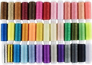 LIHAO Hilos de Coser de Poliéster Hilos de Colores Set (39