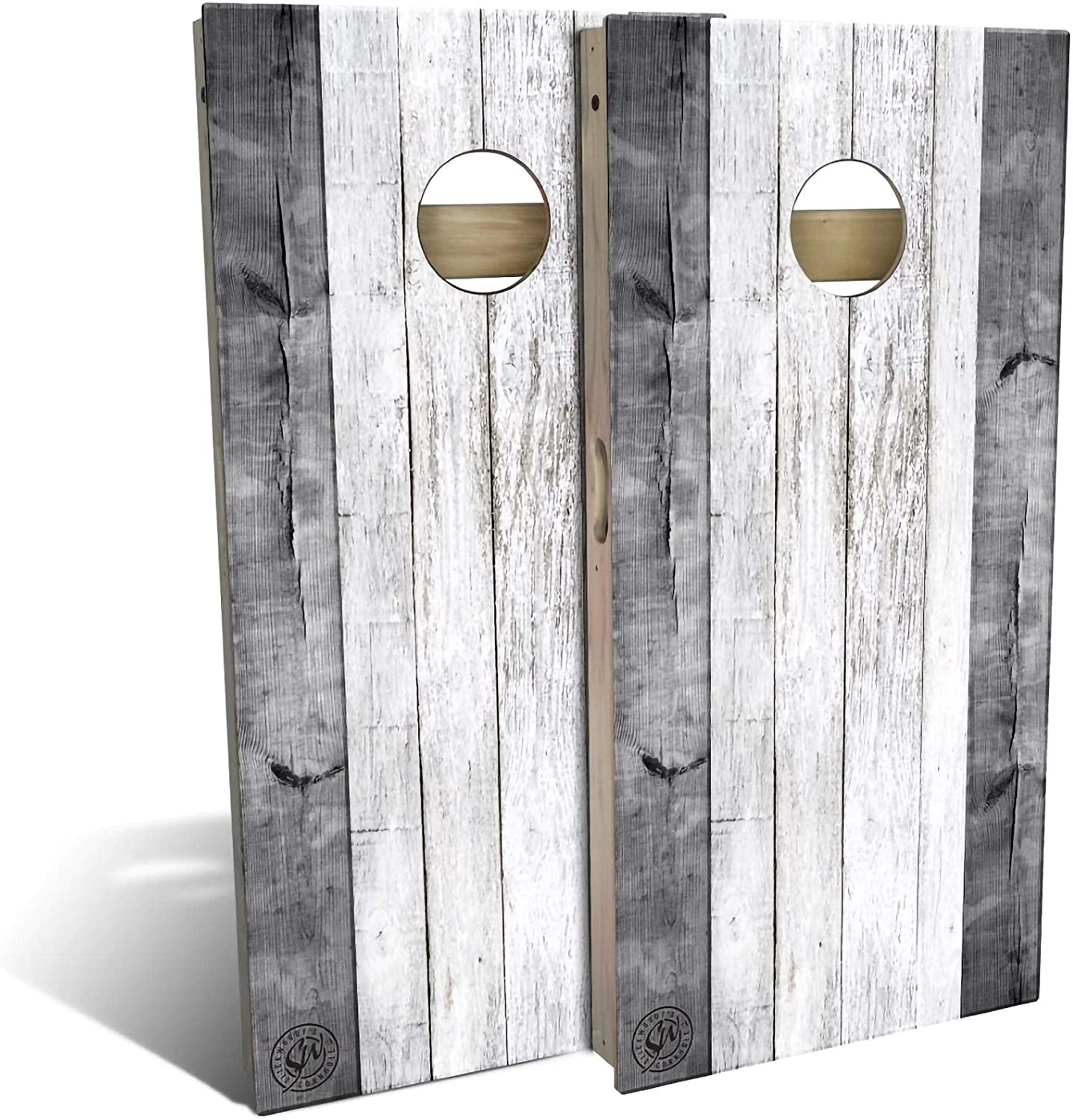 Skip's Garage Cheap super special price Grey Excellence Barn Wood All-Weather Re - Set Board Cornhole