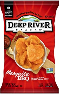 Deep River Snacks Mesquite BBQ Kettle Cooked Potato Chips, 2-Ounce (Pack of 24)