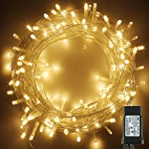 PMS 141Ft 400 LED Christmas Lights, Clear Cable LED Fairy String Lights with 8 Light Modes, Low Voltage Output Ideal for Christmas Tree Home Garden Party Wedding Indoor and Outdoor (Warm White)