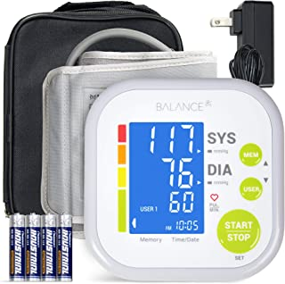 Greater Goods Blood Pressure Monitor Cuff Kit by Balance, Digital BP Meter with Large..