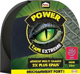 Pattex Power Tape Extrême, Ruban Adhésif 2 Fois Plus Épais et Résistant, Bande Adhésive Extra Collante pour Réparations, R...