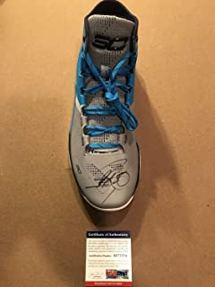 4134ca66b57 Steph Curry Autographed Signed Under Armour Curry Shoe Memorabilia PSA DNA  COA Warriors Mvp
