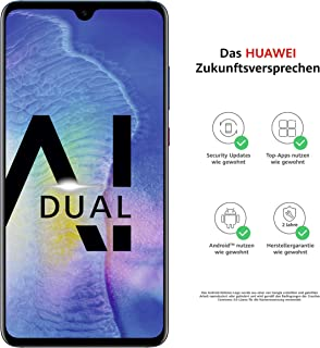 Huawei Mate20 Dual SIM-smarttelefonpaket (16,50 tum, 128 GB internminne, 4 GB RAM, Android 9.0, EMUI 9.0) twilight USB typ...
