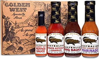 A Taste of Australia Gourmet Gift Set - All Natural Gourmet Sauces in a Handsome Golden West Gift Box