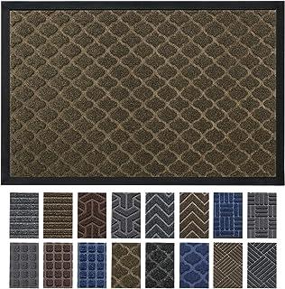 DEXI Outdoor Door Mat, 29x17 Durable Rubber Doormat for Indoor Outdoor, Heavy Duty, Waterproof, Low-Profile Front, Back Door Rug Mats for Entry, Patio, Garage