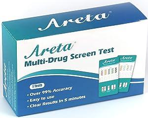 (5 Pack) Areta 12 Panel Dip Test Kits, Instant Urine Testing - #EDOAP-6125B Expires 12/25/21