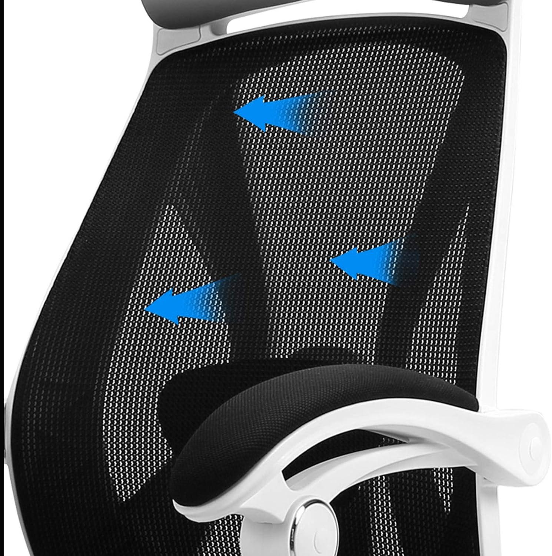 Yuansr Réglable Bureau pivotant Ordinateur Chaise Ergonomique Maison Confortable Sédentaire Chaise conférence Reclining Gaming Président Gaming (Color : Black) Black