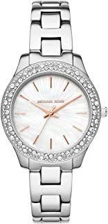 Women's Liliane Quartz Watch with Stainless Steel Strap, Two-Tone, 16 (Model: MK4556)