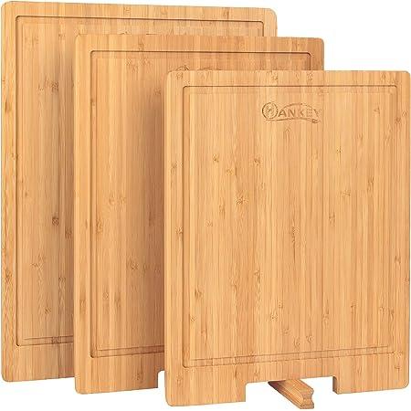 まないた 天然竹製 スタンド付き 溝付き カッティングボード  ピザ キッチンボード  抗菌   おすすめ42*32*2cm