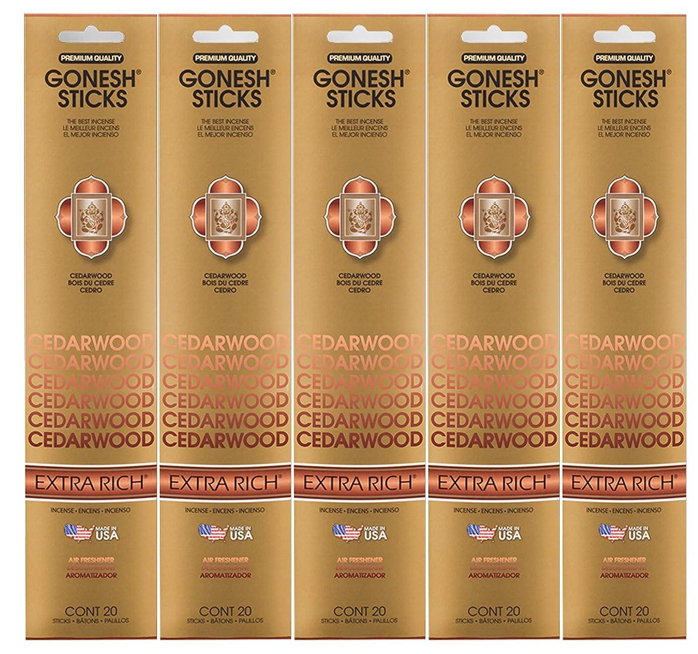 付録最終的に選択するGonesh Incense Sticks Extra Richコレクション?–?シダーウッド5パック(合計100?)
