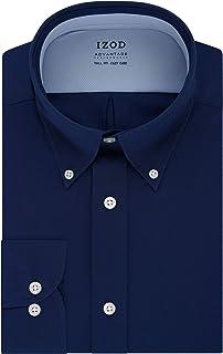 Izod Men's Big and Tall Dress Shirt Tall Fit Stretch Cool FX Solid Dress Shirt